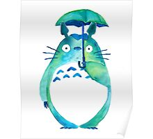 Water color Totoro Poster
