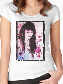 Shan - coloured Women's Fitted Scoop T-Shirt