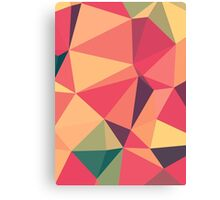 Fruit salad, abstract triangle mosaic design Canvas Print