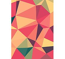 Fruit salad, abstract triangle mosaic design Photographic Print