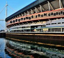 Millennium Stadium, Cardiff - Postcard or Greeting Card by Paula J James
