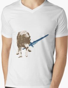 Great Grey Wolf Sif Mens V-Neck T-Shirt