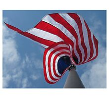 Red, White and Blue Skies Photographic Print