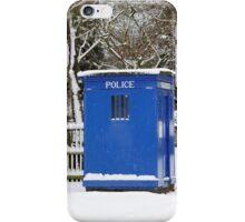 Police phone box iPhone Case/Skin