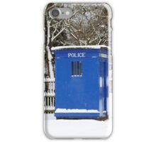 Police phone box iPhone Case/Skin
