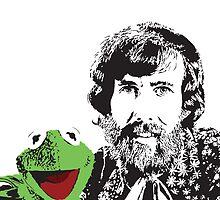 Jim Henson and Kermit by Kelmo