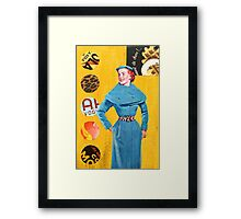 Lady in a Blue Coat Framed Print