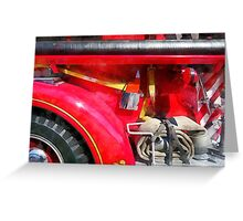 Fire Axe and Hose Greeting Card