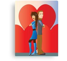 Partner with hearts Canvas Print