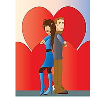 Partner with hearts Photographic Print