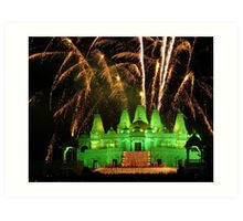Diwali Festival at Hindu Temple Art Print