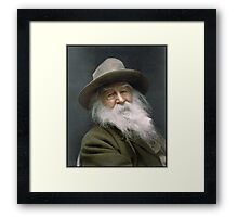 Walt Whitman, 1887 Framed Print