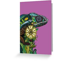 chameleon orchid (card) Greeting Card