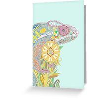 chameleon pastel (card) Greeting Card