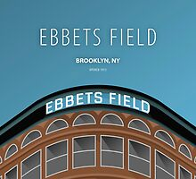 Minimalist Ebbets Field - Brooklyn, NY by pootpoot