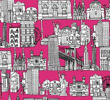 New York pink (card) by Sharon Turner