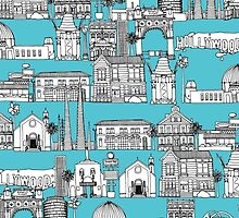 Los Angeles blue (card) by Sharon Turner