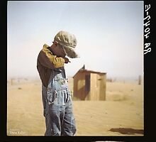Farmer's Son, Dust Bowl, 1936 by Dana Keller