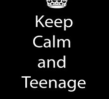 Keep calm and teenage on! phone case by LivingLife
