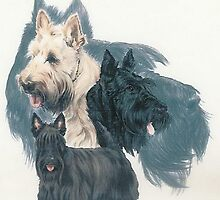 Scottish Terrier with Ghost by BarbBarcikKeith