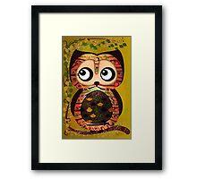 Owl On A Branch Symbolism Framed Print
