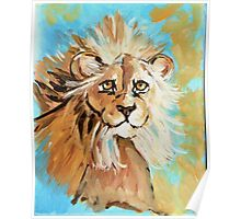 Expressionistic Lion Poster
