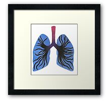 Infected Lungs Framed Print
