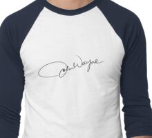 John Wayne - Authentic Signature Design Men's Baseball ¾ T-Shirt