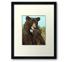 Mama Bear and Her Cub Framed Print