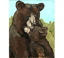 Mama Bear and Her Cub Photographic Print