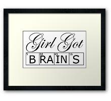 Brains Framed Print
