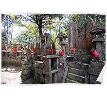 kitsune temple altars Poster