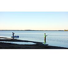 Lone Fisherman Photographic Print