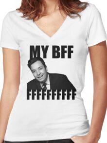 My BFF FFFFFFFFFF Women's Fitted V-Neck T-Shirt