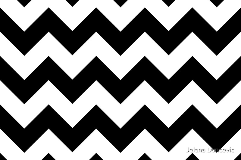 zigzag pattern chevron pattern white black by sitnica redbubble. Black Bedroom Furniture Sets. Home Design Ideas