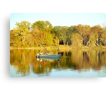 Fall Fishing Metal Print