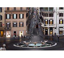 Via Condotti Waking Up - Rome, Italy Photographic Print