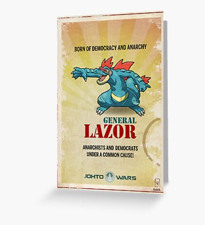 LAZOR Propaganda Greeting Card