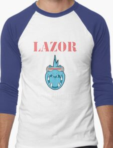 LAZOR WAS RIGHT. Twitch plays pokemon Men's Baseball ¾ T-Shirt