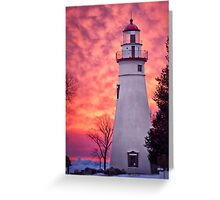 Sunrise at the lighthouse Greeting Card