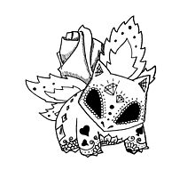 Ivysaur de los Muertos | Pokemon & Day of The Dead Mashup Photographic Print