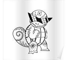 Squirtle de los Muertos   Pokemon & Day of The Dead Mashup Poster