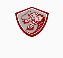 Chinese Red Dragon Head Shield Unisex T-Shirt