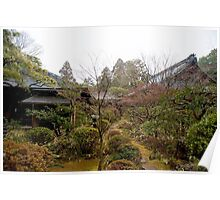 japanese temple gardens Poster