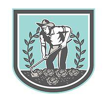 Organic Farmer Grabhoe Plant Shield by patrimonio