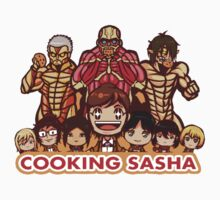 Cooking Sasha/Shingeki No Kyojin T-shirt by Shwig