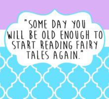 Reading Fairy Tales Again Sticker