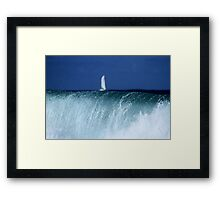 Sailing Towards The Falls Framed Print