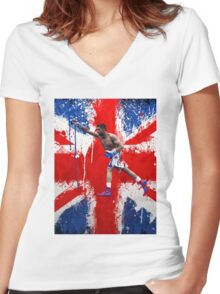 Amir Khan Boxing British  Women's Fitted V-Neck T-Shirt