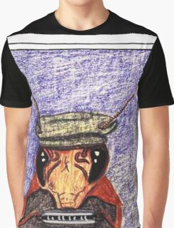pinky The Cockroach Playing Harmonica Graphic T-Shirt